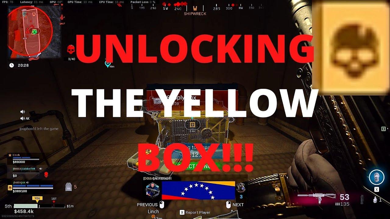 yellow card warzone unlock