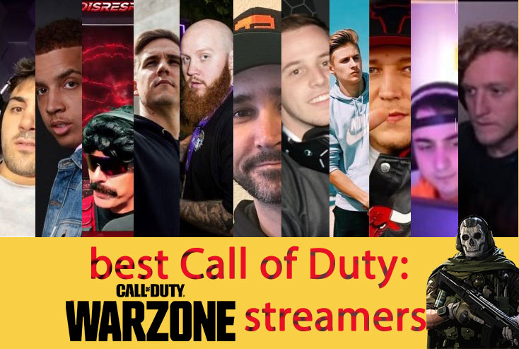 Top 10 Call of duty: Warzone streamers in twitch 2021