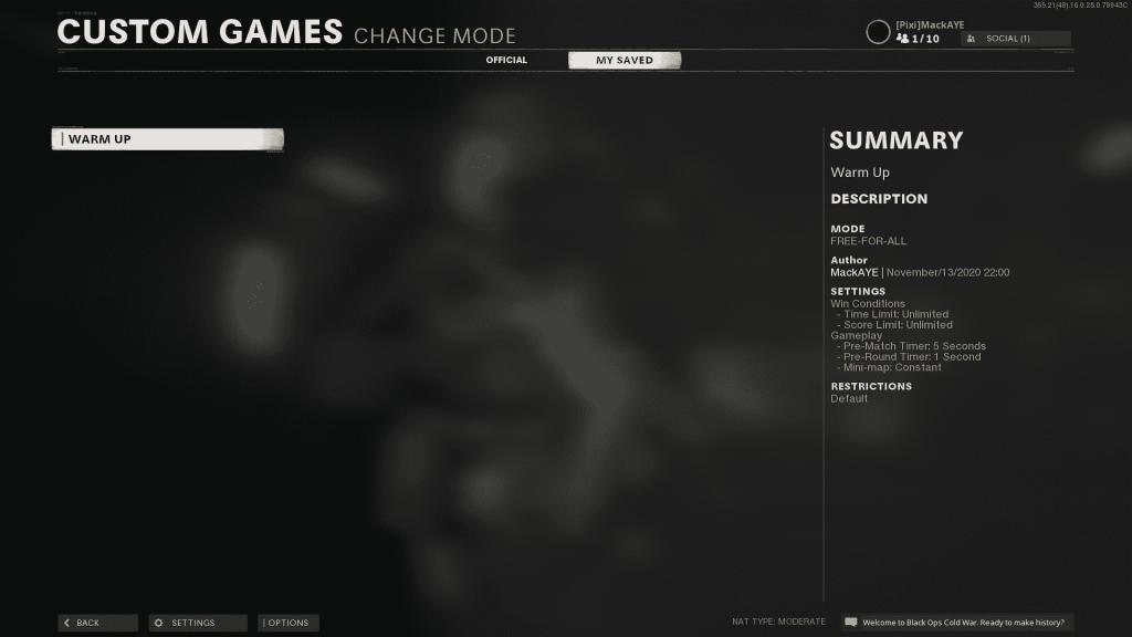 Custom Games