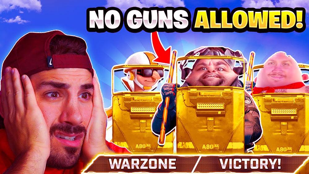 no gun challenge warzone