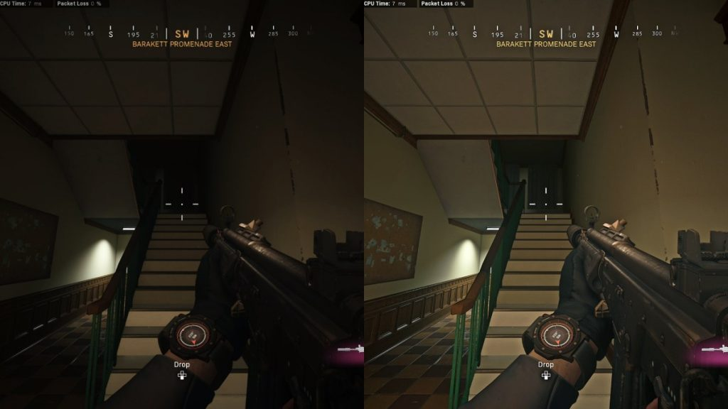 NVIDIA Warzone Filters Off vs On