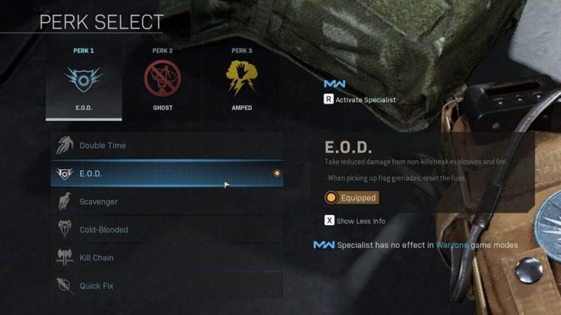 Warzone E.O.D perk