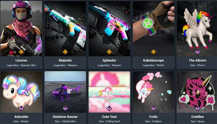 Rainbow Sparkle item
