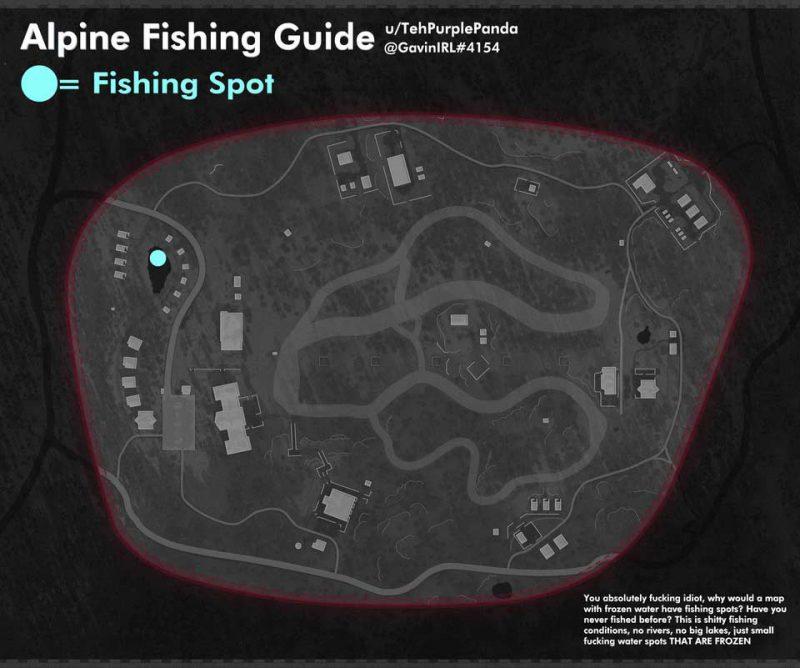 location alpine fishing