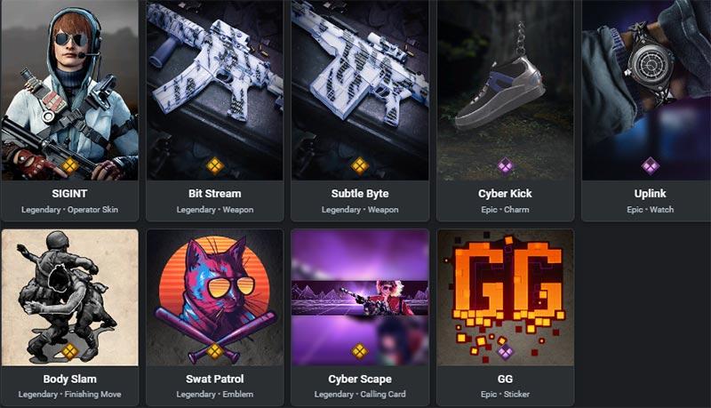 cyberspace bundle items
