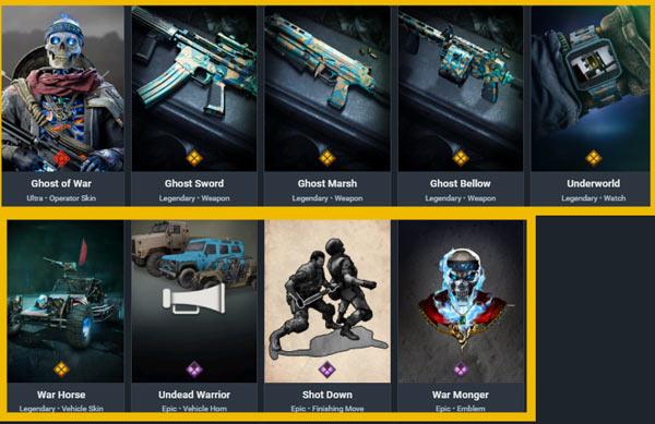 Ghost of War bundle items