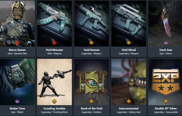 Necro Queen bundle warzone items